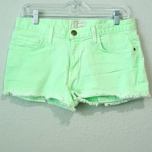 CURRENT/ELLIOT The Boyfriend Short in Lime Green